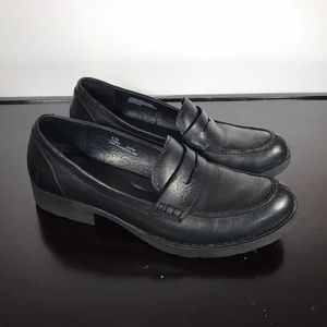 BORN black Leather Penny Loafers Sz 9.5